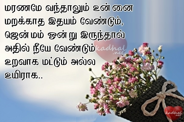 Tamil love poem in english words